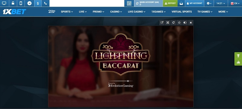 Baccarat Casino 1xBet