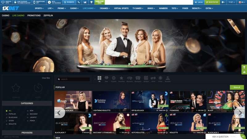 Dunia Gameplay Di Kasino Online 1XBet
