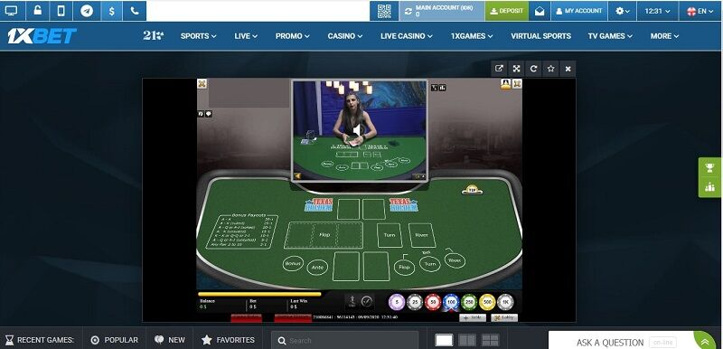 1xBet Poker Download