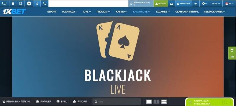 Blackjack Casino 1xBet